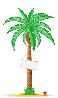 Palm met een teken vectorillustratie