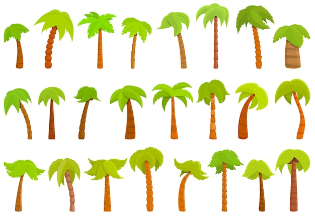 Palm pictogrammen instellen. palm pictogrammen