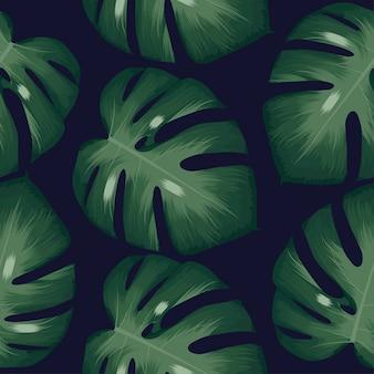 Palm verlaat tropische patroon realistische bladeren achtergrond