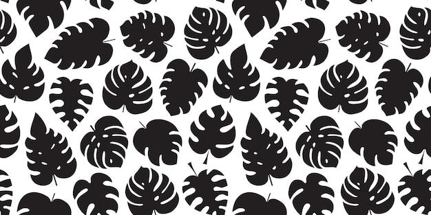 Palmblad naadloos patroon monstera