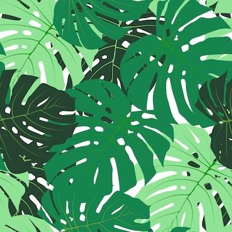 Palmblad naadloze patroon achtergrond vectorillustratie eps10
