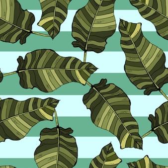 Palmbladen tropische naadloze patroon