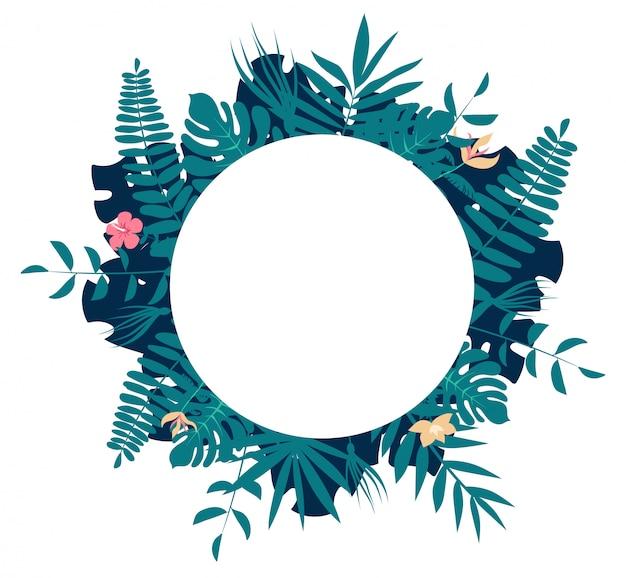 Palmbladeren rond frame