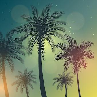 Palmbomen achtergrond illustratie