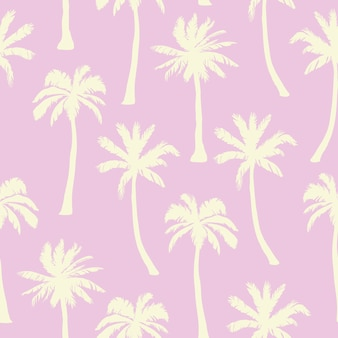 Palmboom patroon. naadloze hand getekend texturen op exotische trendy achtergrond.