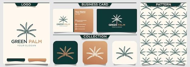 Palmboom werk teken logo ontwerpsjabloon