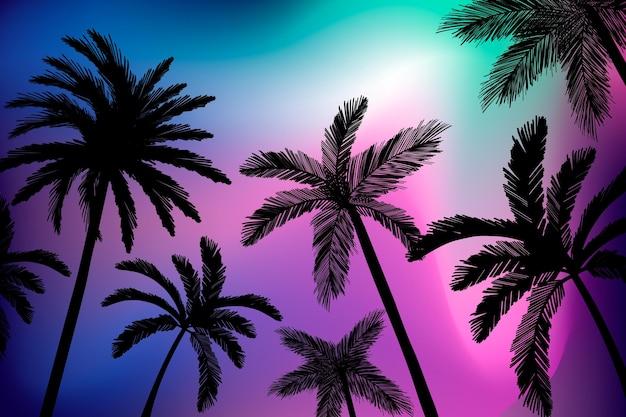 Palmen silhouetten achtergrond