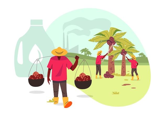Palmolie producerende industrie concept