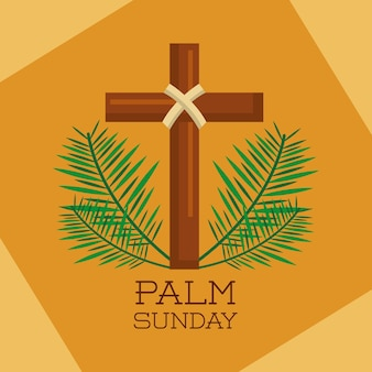 Palmzondag heilige kruis takken decoratie