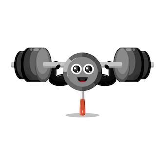 Pan fitness schattig karakter mascotte