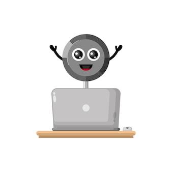 Pan laptop schattig karakter mascotte
