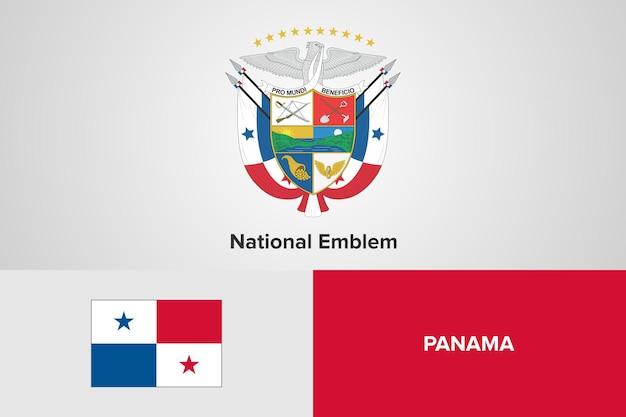 Panama nationale embleem vlag sjabloon