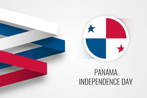 Panama onafhankelijkheidsdag en ronde 3d vlag