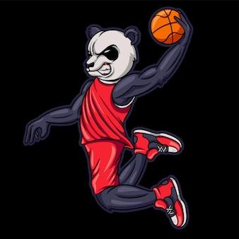 Panda basketbal tekenfilm
