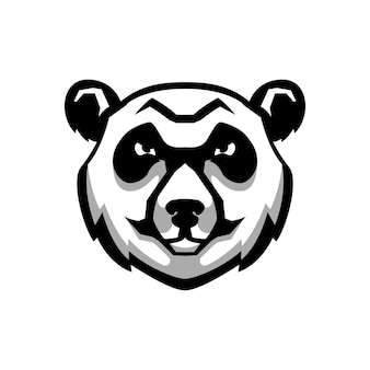 Panda bear hoofd teken op witte achtergrond. element voor logo, etiket, embleem, poster, t-shirt. beeld