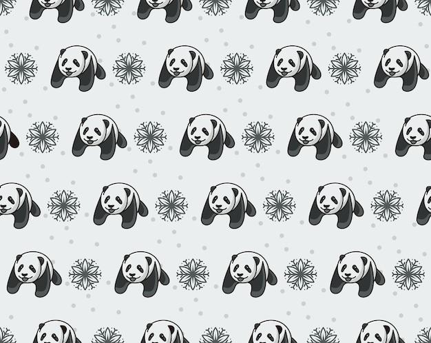 Panda beer silhouet vector sjabloon.