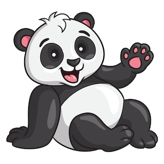Panda cartoon-stijl