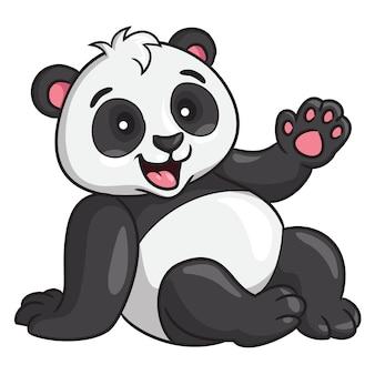 Panda cartoon-stijl Premium Vector