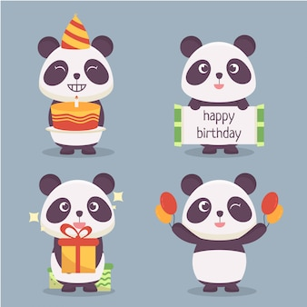 Panda character collection