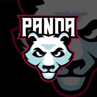 Panda esports-logo sjablonen