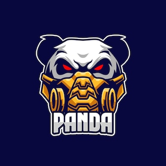 Panda esports logo sjabloon