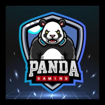 Panda gaming-mascotte esport-logo-ontwerp
