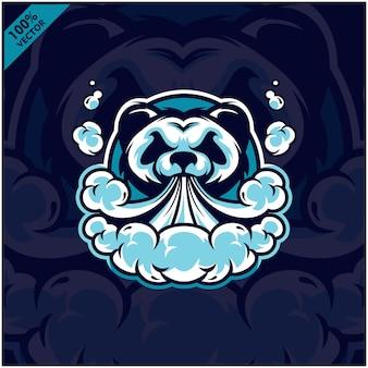 Panda hoofd damp e-sigaret, vape, vaporizersigaret, elektronische rook