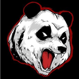 Panda hoofd logo mascotte