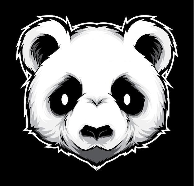 Panda hoofd vector