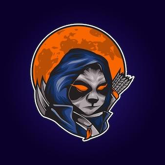 Panda jager illustratie