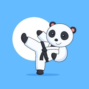 Panda karate kick dierlijke sportactiviteit