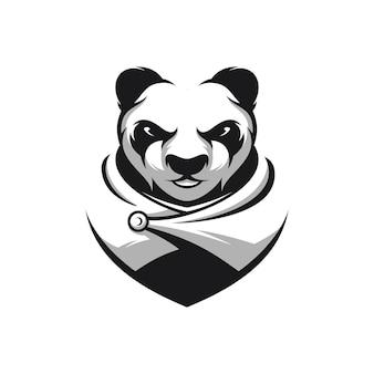Panda krijger mascotte
