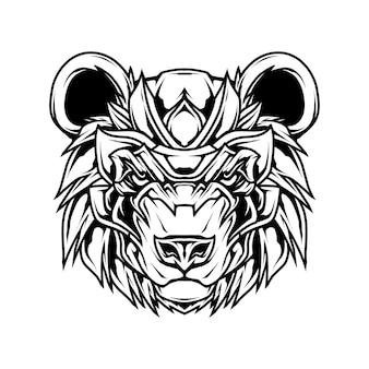 Panda line art t-shirt illustratie
