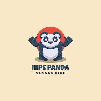 Panda-logo mascotte