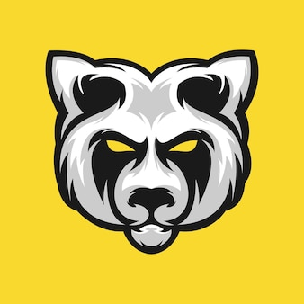 Panda logo ontwerp vector illustratie
