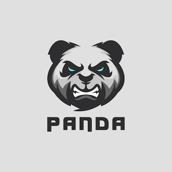 Panda logo ontwerp voor sportteam