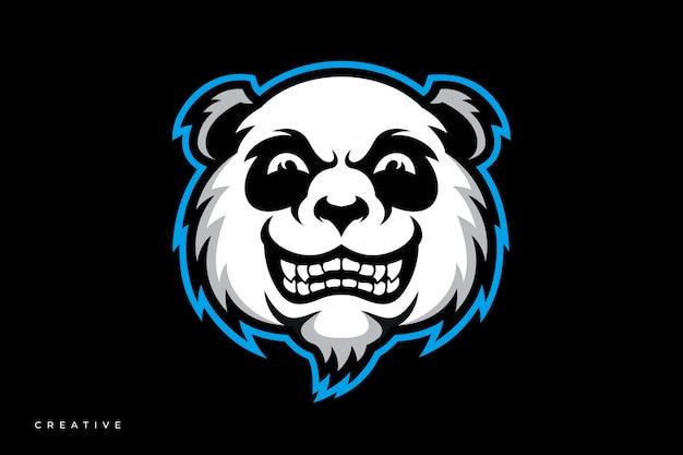 Panda mascotte esport-logo