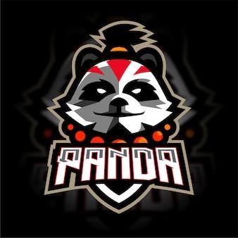 Panda mascotte gaming-logo