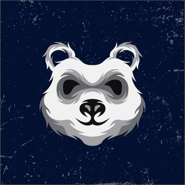 Panda mascotte logo ontwerp premium