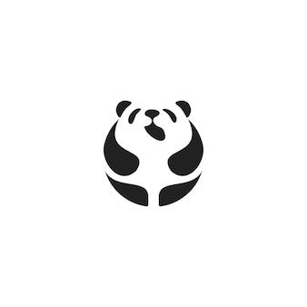 Panda monogram logo