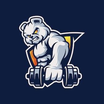 Panda spier-logo met gratis vector