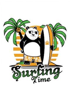 Panda surfen