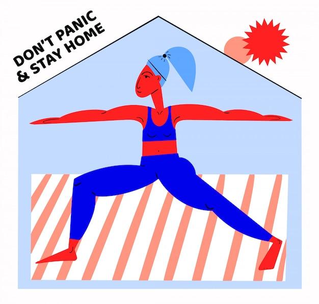 Pandemic isolatie concept banner met quarantaine. illustratie. coronavirus-uitbraak. 2019-ncov-achtergrond. blijf thuis