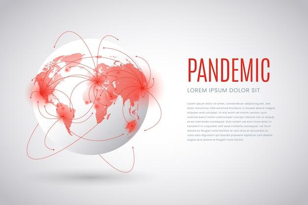 Pandemische concept illustratie