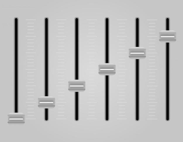 Paneel console geluid mixer vectorillustratie