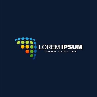Paneel kleurrijk logo-ontwerp