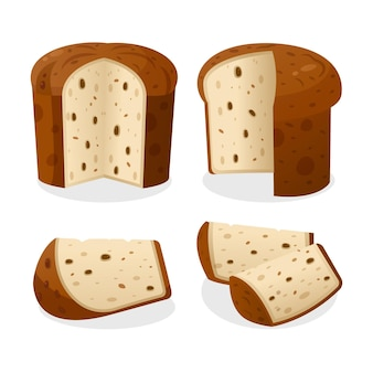 Panettone-concept in plat ontwerp