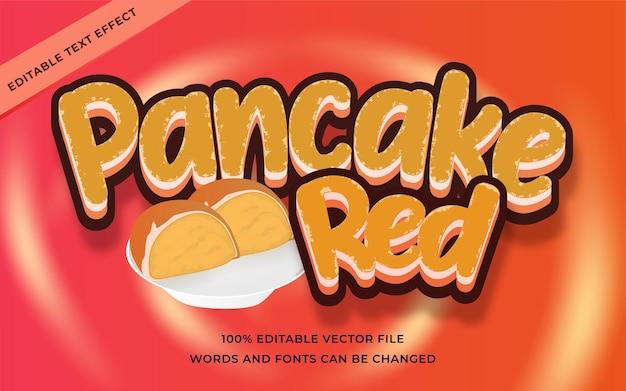 Pannenkoek rood teksteffect bewerkbaar voor illustrator