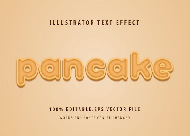 Pannenkoek tekststijl effect