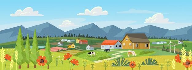Panorama van de boerderij